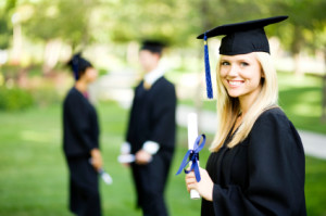 female_online_high_school_student_diploma_scroll_graduation