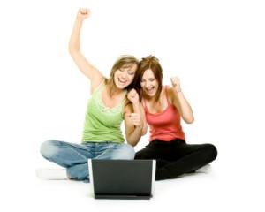 online high school girls laptop